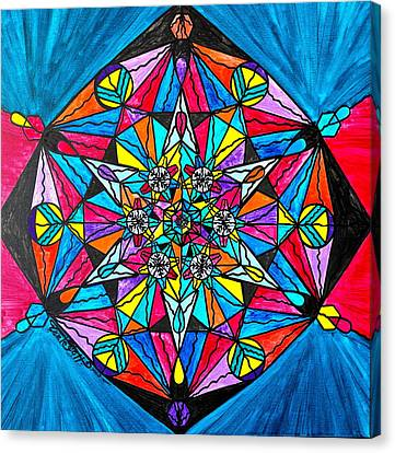Sacred Canvas Print - Namaste by Teal Eye  Print Store