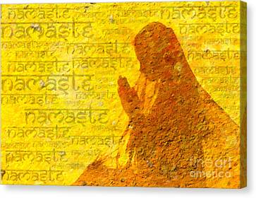 Namaste  Canvas Print by Tim Gainey