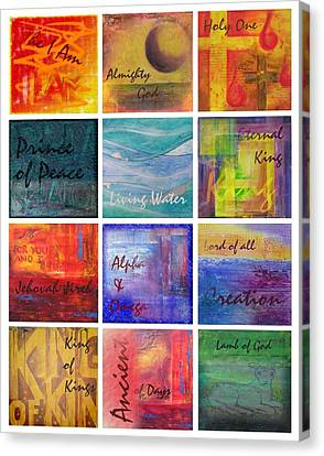 Canvas Print featuring the painting Names Of God by Jocelyn Friis