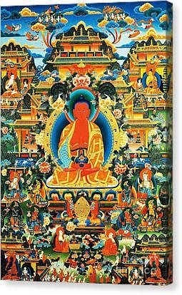 Namo Amitabha Buddha 24 Canvas Print by Lanjee Chee