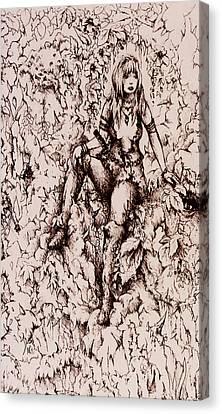 Nan Dungortheb Detail Canvas Print by Rachel Christine Nowicki