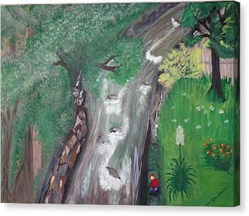 Nanas Window View Canvas Print by Carol  Lynn Bronte