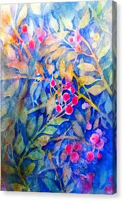 Nandina Canvas Print by Cynthia Roudebush