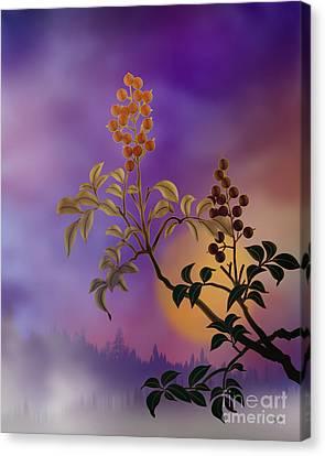 Nandina The Beautiful Canvas Print by Bedros Awak
