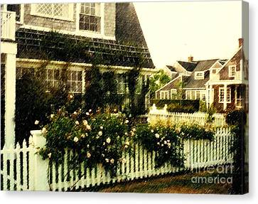 Nantucket Cottage Canvas Print by Desiree Paquette