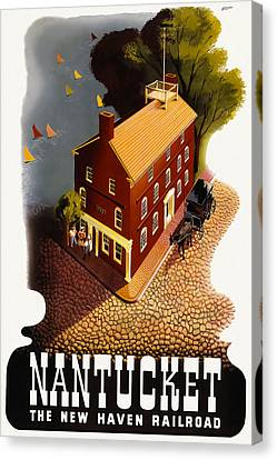 Nantucket New Haven Railroad Canvas Print by David Wagner