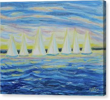 Nantucket Sunrise Canvas Print by Diane Pape