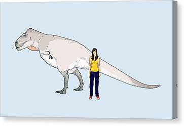 Nanuqsaurus Size Comparison Canvas Print by Nemo Ramjet