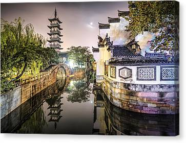 Nanxiang Ancient Town In Shanghai China Canvas Print