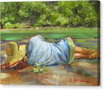 Nap Time   La Sieste Canvas Print by Dominique Amendola
