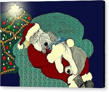 Nap With Santa Canvas Print