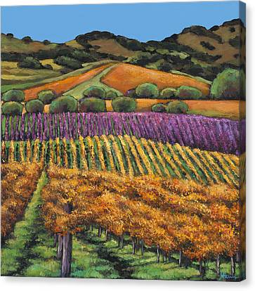 Wine Scene Canvas Print - Napa by Johnathan Harris