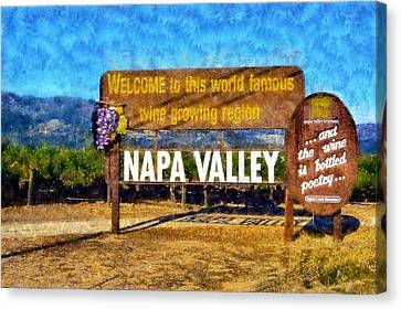 Napa Valley Sign Canvas Print by Kaylee Mason