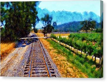 Napa Valley Tracks Canvas Print
