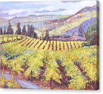 Grape Vines Canvas Print - Napa Valley Vineyards by David Lloyd Glover