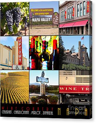 Napa Valley Wine Country 20140905 With Text Canvas Print by Wingsdomain Art and Photography