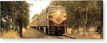 Napa Wine Train Canvas Print by Jon Neidert