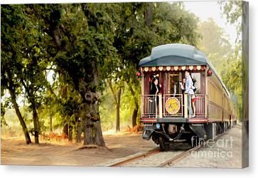 Napa Wine Train Painting Canvas Print by Jon Neidert