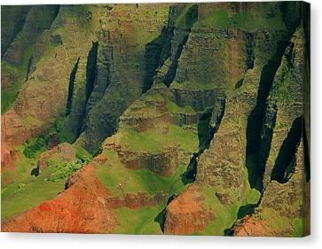 Napail Coast Cliffs Canvas Print by Stephen  Vecchiotti