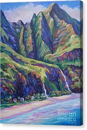 Napali Coast Evening Colours Canvas Print by John Clark