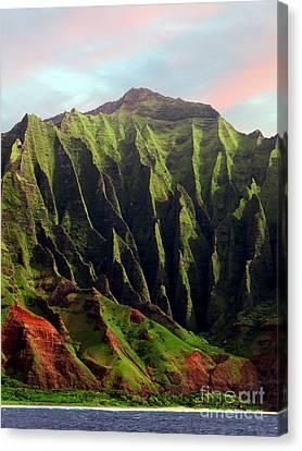 Napali Coast On Kauai  Canvas Print