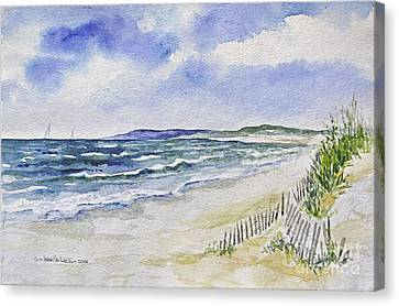 Napatree Beach Canvas Print by Joan Hartenstein