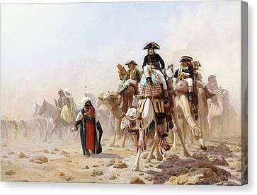 Napoleon And His General Staff Canvas Print by Jean Leon Gerome