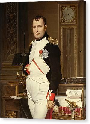 Napoleon Bonaparte In His Study Canvas Print