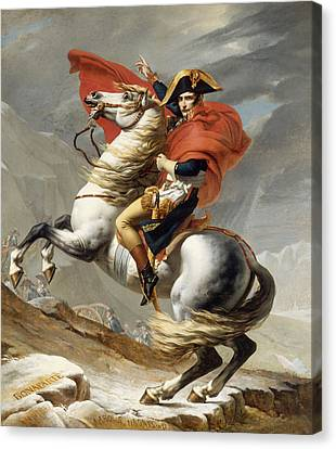 Napoleon Bonaparte On Horseback Canvas Print