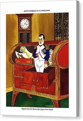 Drawers Canvas Print - Napoleon Dans Son Bureau Apres Jacques-louis David by J.B. Handelsman