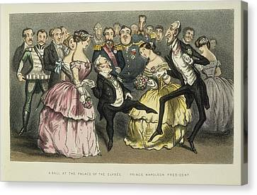 Ball Gown Canvas Print - Napoleon IIi At A Ball by Granger