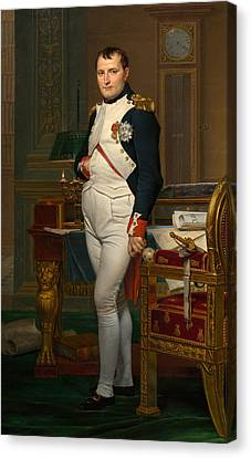 Emperor Napoleon In His Study At The Tuileries Canvas Print by War Is Hell Store