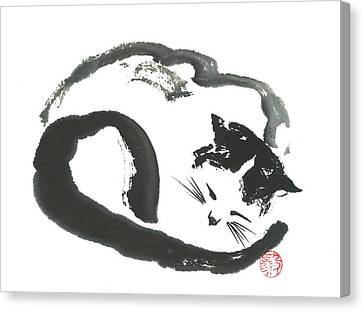 Napping Neko Canvas Print
