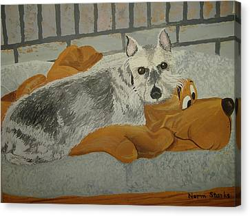 Naptime With My Buddy Canvas Print by Norm Starks