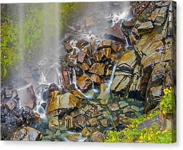 Narada Falls Mount Rainier National Park Canvas Print by Bob Noble Photography