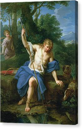 Narcissus And Echo Canvas Print by Placido Costanzi