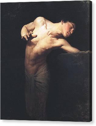 Narcissus  Canvas Print by Gyula Benczur