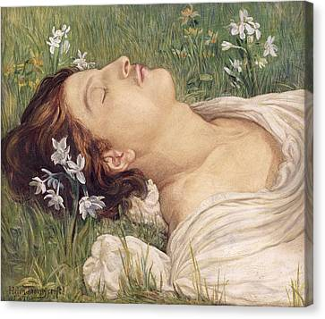 Narcissus Canvas Print by Helen Thornycroft