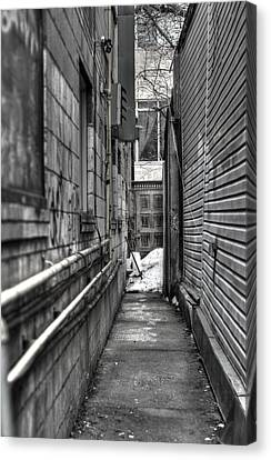 Narrow Alley Canvas Print by Nicky Jameson