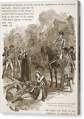 Narrow Escape Of Benedict Arnold, When Canvas Print