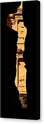 Petra Canvas Print - Narrow Is The Way by Stephen Stookey