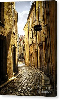 Narrow Street In Perigueux Canvas Print by Elena Elisseeva