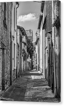 Narrow Streets Of Eymet Canvas Print by Georgia Fowler