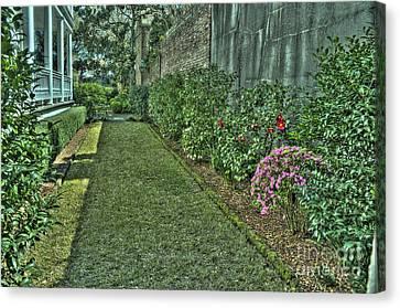 Narrow Urban Garden Canvas Print
