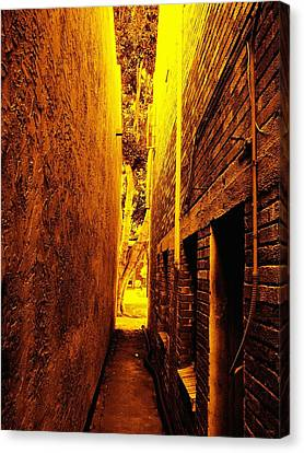 Narrow Way To The Light Canvas Print by Glenn McCarthy Art and Photography