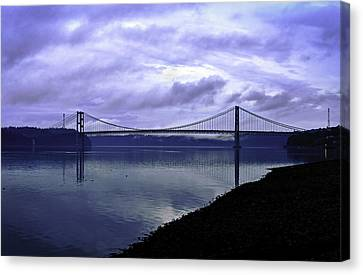 Canvas Print featuring the photograph Narrows Bridge by Anthony Baatz