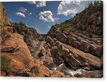 Narrows Canyon In The Wichita Mountains Canvas Print
