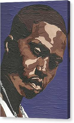 Canvas Print featuring the painting Nas by Rachel Natalie Rawlins
