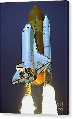 Nasa Atlantis Launch 2 Canvas Print