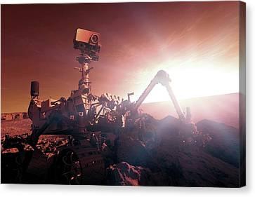 Nasa Curiosity Mars Rover Canvas Print